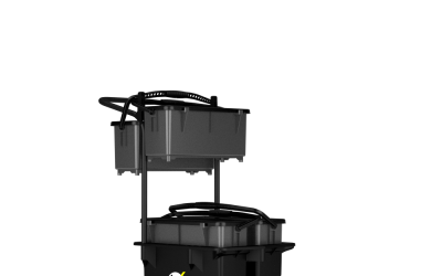 Trolley Bucket with Bins – Front Right