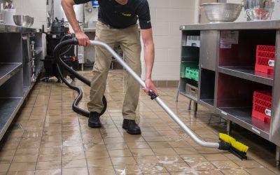 Dispense-and-Vac – Vacuuming Under Prep Table