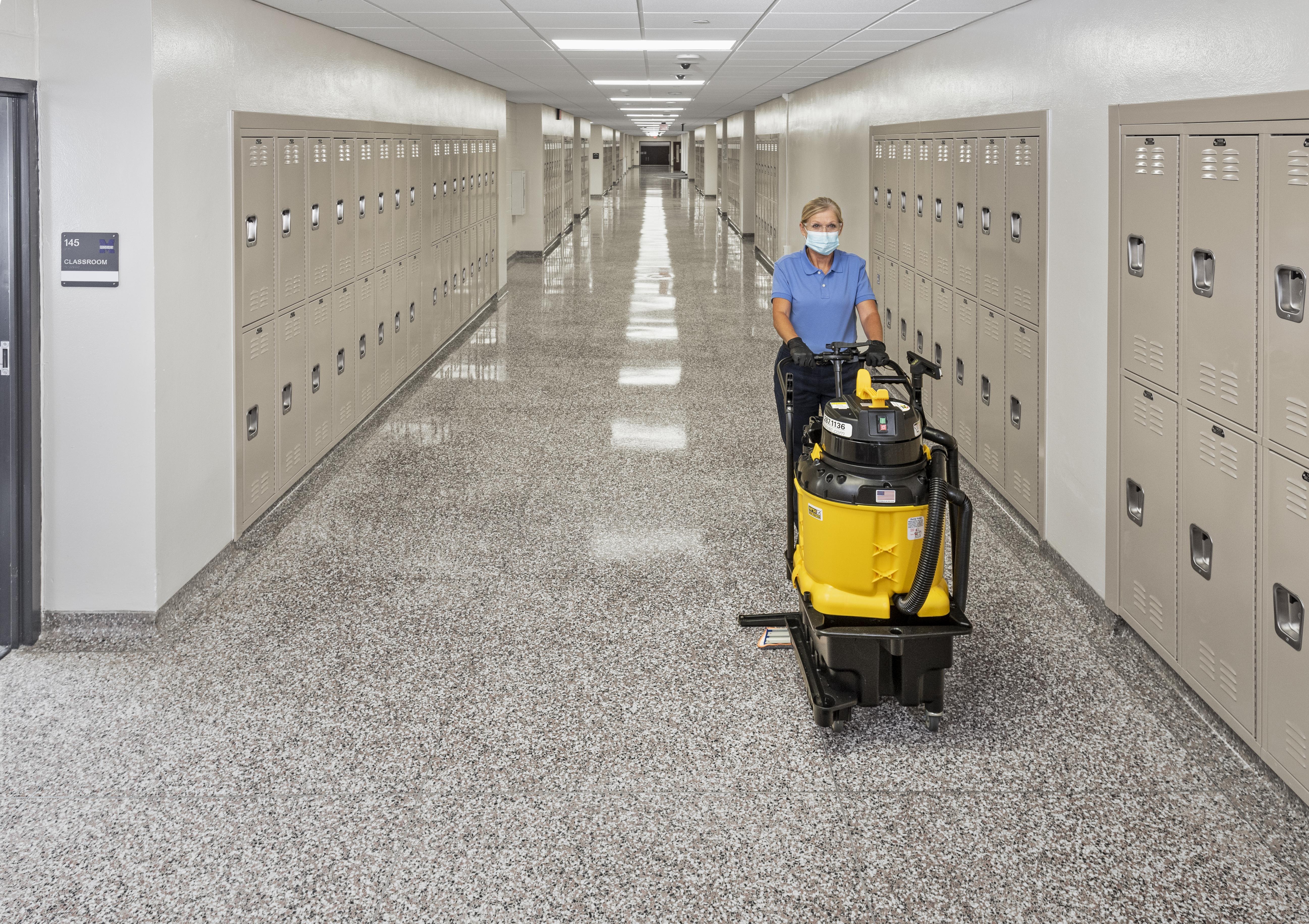 KaiVac AutoVac School Hallway