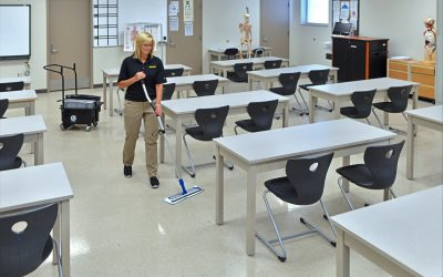 Trolley Bucket – Microfiber Mop – Classroom 2756 landscape