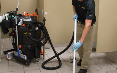 SUV – School Restroom Floor Vacuuming