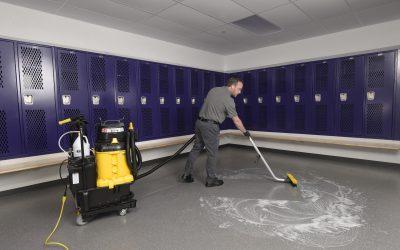 Spray-and-Vac – Locker Room Floor 201