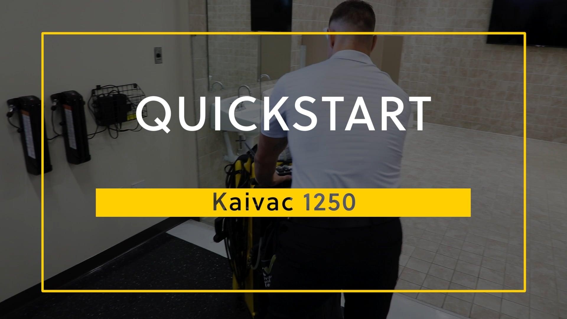 Kaivac 1250 QuickStart