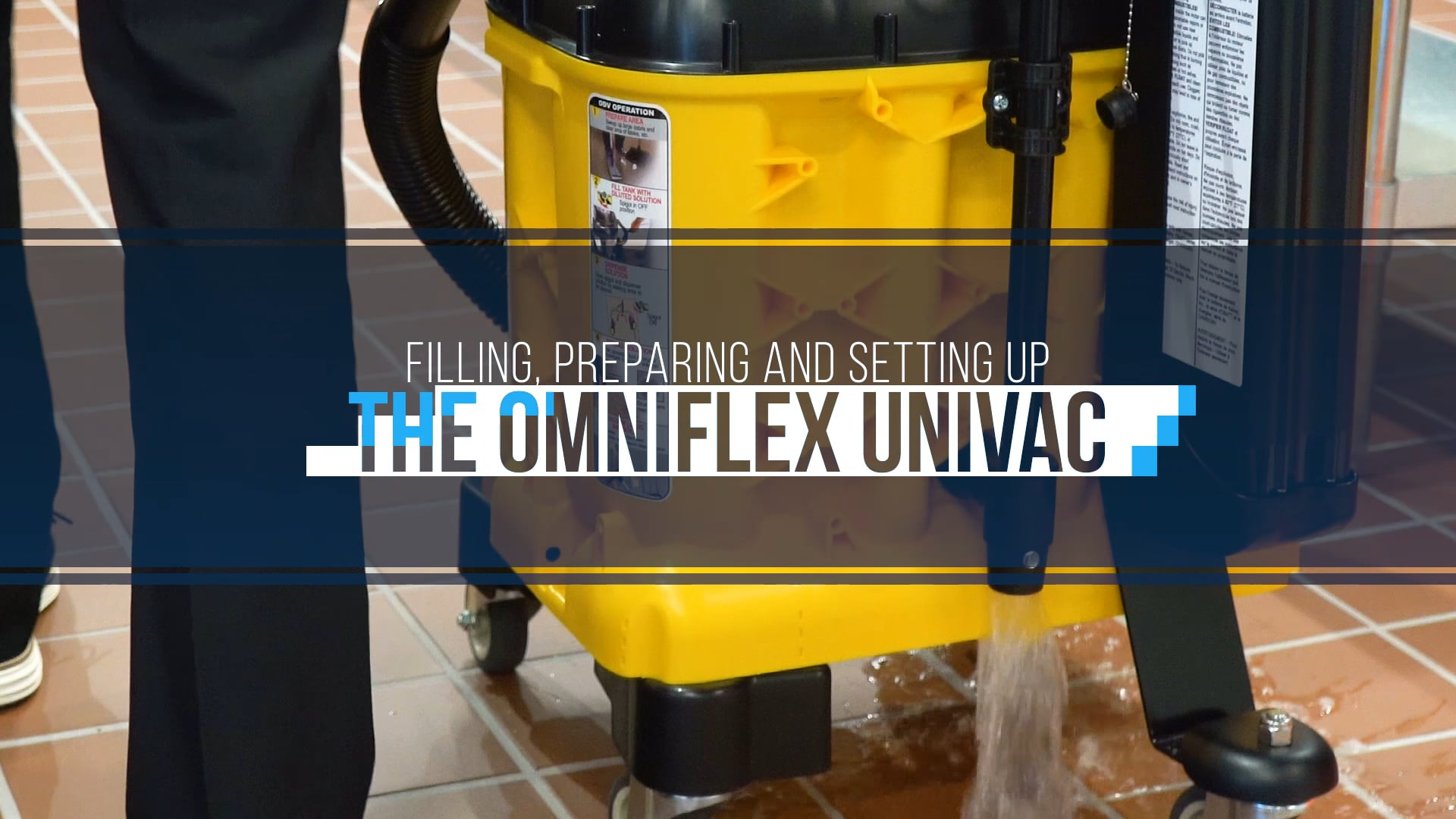 Cleaning Floors with UniVac