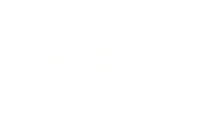 Kaivac Logo – Horizontal – White