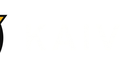 Kaivac Logo – Horizontal – Full Color – White Text